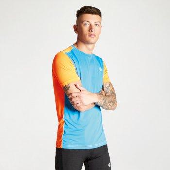 Men's Underlie Active T-Shirt Atlantic Blue Shock Orange