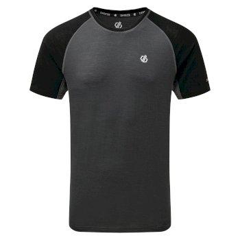 Męska koszulka Conflux szara - czarna