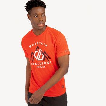 Męski t-shirt Dare2B Righteous II czerwony