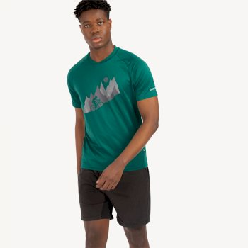 Męski t-shirt Righteous II Dare2B ciemnozielona