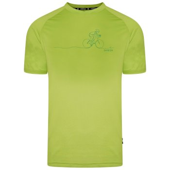Męski t-shirt Righteous II Dare2B limonkowa