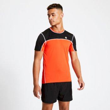 Dare 2b - Men's Notable Lightweight T-Shirt Trail Blaze Red Black
