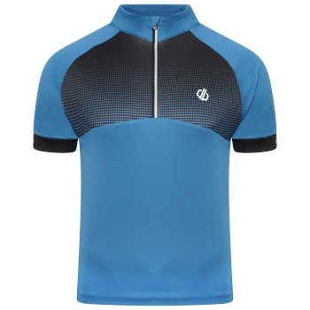 Dare 2b - Men's Stay The Course Half Zip Cycling Jersey Petrol Blue Black Gradient