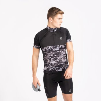 Dare 2b - Men's Stay The Course Half Zip Cycling Jersey Black