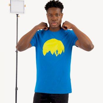 DMT516_4PA: Dare 2b - Mens Determine Graphic T-Shirt Athletic Blue