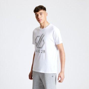 DMT517_900: Dare 2b - Mens Continuous Dare2b Print T-Shirt White