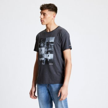 DMT522_3PD: Dare 2b - Mens Token Graphic T-Shirt Charcoal Grey