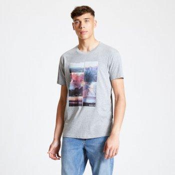 DMT522_9EB: Dare 2b - Mens Token Graphic T-Shirt Ash Grey