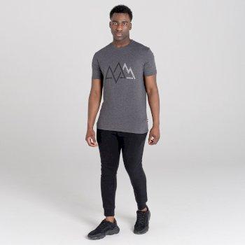 Dare 2b - Men's Allusion Organic Cotton Graphic T-Shirt  Charcoal Grey Marl