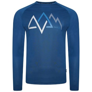 Dare 2b - Men's Righteous Long Sleeved Graphic Tee Petrol Blue