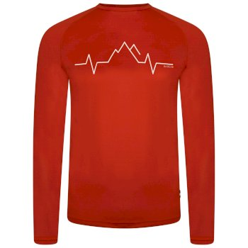 Dare 2b - Men's Righteous Long Sleeved Graphic Tee Trail Blaze Red
