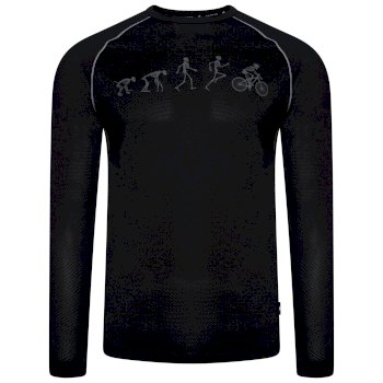 Dare 2b - Men's Righteous Long Sleeved Graphic Tee Black