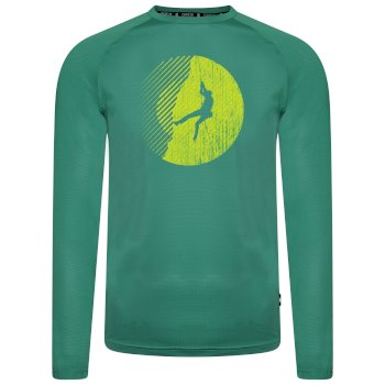 Dare 2b - Men's Righteous Long Sleeved Graphic Tee Jelly Bean Green