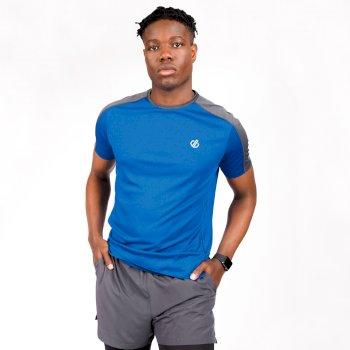 Dare 2b - Men's Discernible Lightweight Reflective T-Shirt Athletic Blue Ebony Grey
