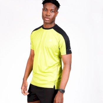 Dare 2b - Men's Discernible Lightweight Reflective T-Shirt Lime Green Black