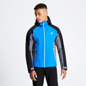 Dare 2b - Men's Recode Lightweight Hooded Waterproof Jacket Athletic Blue Black