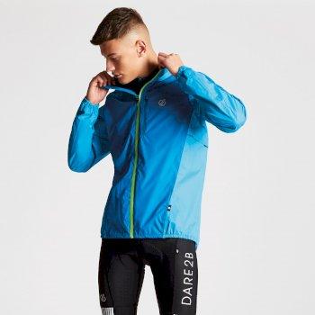 Men's Mediant Full Zip Reflective Cycling Jacket Petrol Atlantic Blue