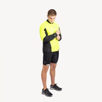 Dare 2b - Men's Mediant Waterproof Reflective Cycling Jacket Fluro Yellow Black