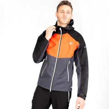 Męska kurtka wodoodporna Touchpoint Dare2B pomarańczowo-szara