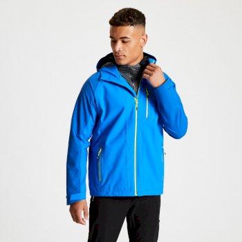 Dare 2b - Men's Diluent II Waterproof Hooded Jacket Athletic Blue Olympic