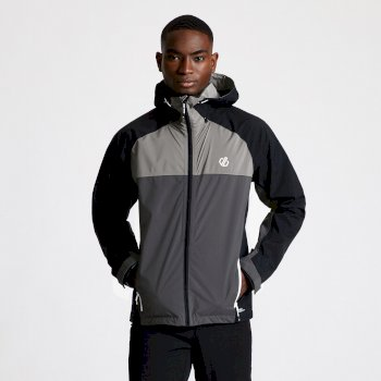 Dare 2b - Men's Aline II Lightweight Waterproof Jacket Ebony Grey Black