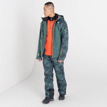 Męskie spodnie narciarskie Dare2B Absolute II zielone moro