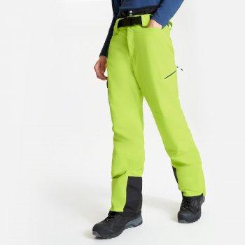 Męskie spodnie narciarskie Dare2B Absolute II limonkowe