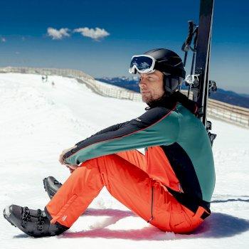 Męskie spodnie narciarskie Dare2B Achieve II pomarańczowe