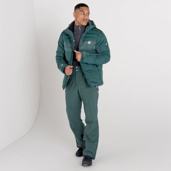 Męskie spodnie narciarskie Dare2B Achieve II ciemnozielone