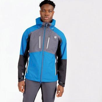 Dare 2b - Men's Soaring Waterproof Jacket Athletic Blue Ebony Grey