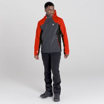 Dare 2b - Men's Recode II Waterproof Jacket  Trail Blaze Red Ebony Grey