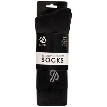 Dare 2b - Adult's Essentials Sports Socks 3 Pack Black
