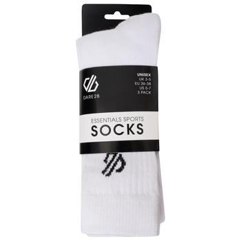 Dare 2b - Adult's Essentials Sports Socks 3 Pack White