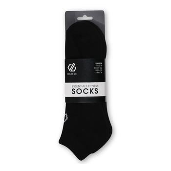 Dare 2b - Adult's Essentials No Show Socks 2 Pack Black