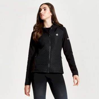 Dare 2b - Women's Glorious Full Zip Hooded Fleece Black