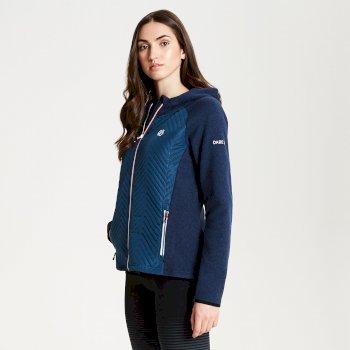 Dare 2b - Women's Glorious Full Zip Hooded Fleece Blue Wing