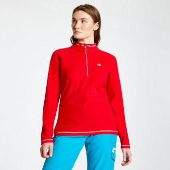 Women's Freeform Half Zip Lightweight Fleece Lollipop Red