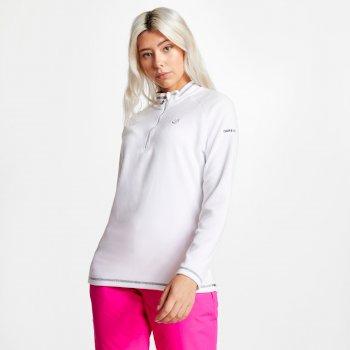 Women's Freeform Half Zip Lightweight Fleece White