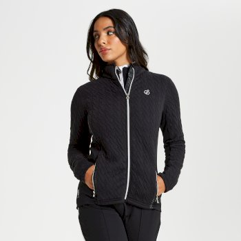 Dare 2b - Women's Sumptuous Full Zip Knitted Luxe Stretch Midlayer Black