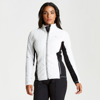 Dare 2b - Women's Sumptuous Full Zip Knitted Luxe Stretch Midlayer White