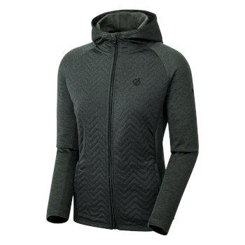 Dare 2b - Women's Faultless Full Zip Hooded Hybrid Fleece Charcoal Grey