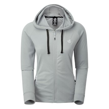 Dare 2b - Women's Enacy Full Zip Hooded Fleece Argent Grey