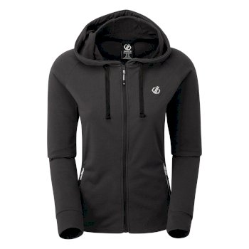 Dare 2b - Women's Enacy Full Zip Hooded Fleece Ebony Grey