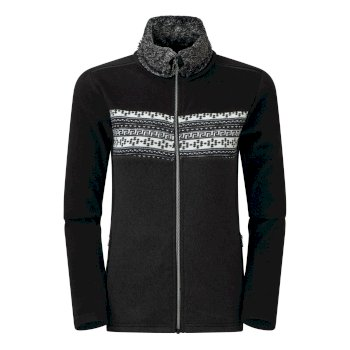 Dare 2b - Swarovski Embellished - Women's Overawe Full Zip Faux Fur Collar Luxe Fleece Black