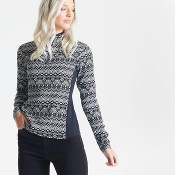 Dare 2b - Swarovski Embellished - Women's Immortal Half Zip Luxe Sweater Black White