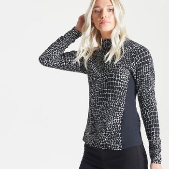 Damska bluza Dare2B Immortal zdobiona kryształkami Swarovski czarna - biała