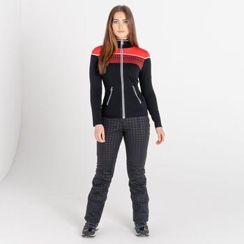 Dare 2b - Women's Lucent Full Zip Luxe Sweatshirt Lollipop Red Black