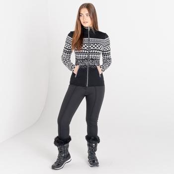 Dare 2b - Women's Lucent Full Zip Luxe Sweatshirt Black And White Dogtooth