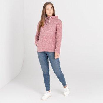 Dare 2b - Women's Obsessed Half Zip Drawcord Hooded Luxe Fleece Powder Pink