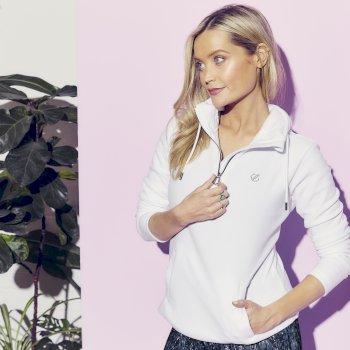 The Laura Whitmore Edit - Obsessed Swarovski Embellished Hoodie White